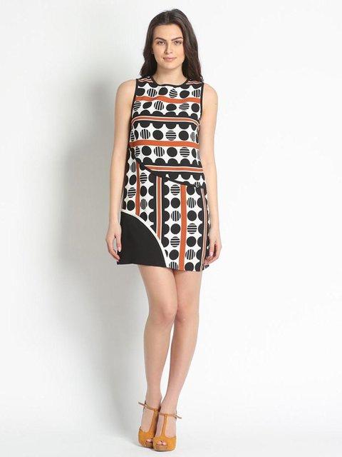 Сукня коричнева в принт Rinascimento 3186058