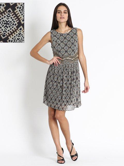 Платье в принт Sandro Ferrone 3186121