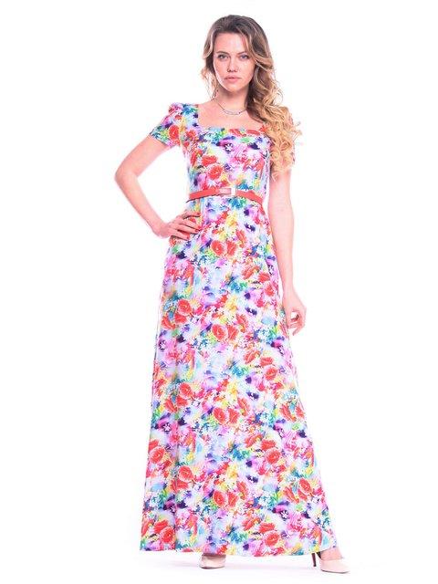 Платье в цветочный принт Victoria Loks 3203870
