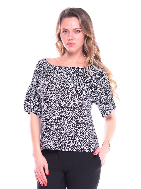 Блуза в принт Victoria Loks 3203898