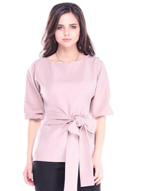 Блуза цвета кофе с молоком Laura Bettini 2995875