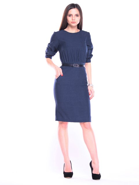 Платье темно-синее Rebecca Tatti 3091047