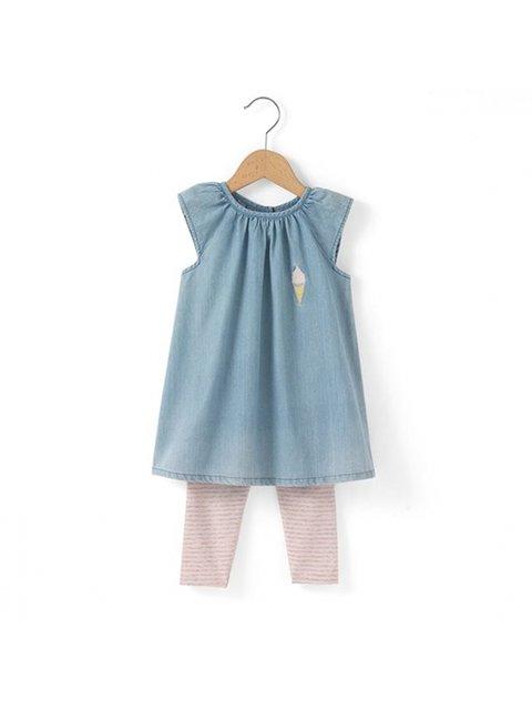 Платье голубое R MINI 3206767
