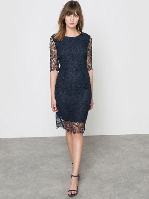 Сукня темно-синя ATELIER R 3206012
