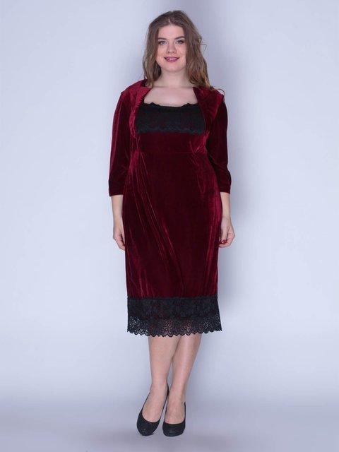 Сукня оксамитова червона Marc Vero Maxxi 3207619