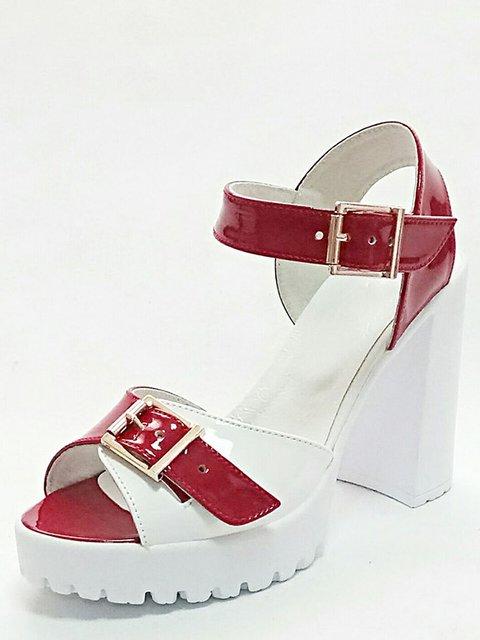 Босоніжки червоно-білі Tops 3211804