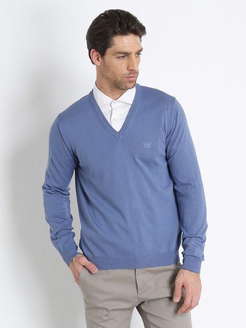 Пуловер голубой Henry Cotton's 3215780