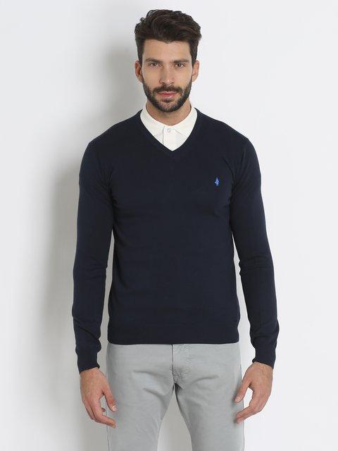 Пуловер темно-синий MCS 3234495
