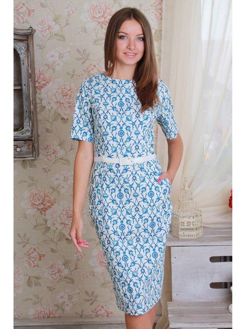 Платье белое в принт VSV 2782086
