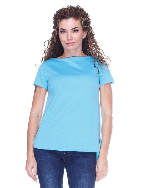Блуза блакитна з асиметричним низом Marc Vero Maxxi 3234376