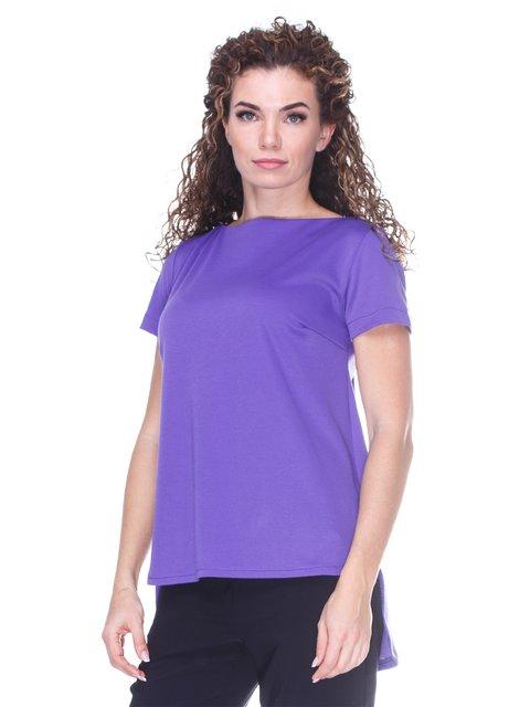 Блуза фіолетова  з асиметричним низом Marc Vero Maxxi 3234374