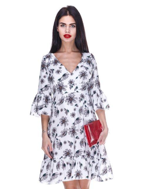 Сукня біла з квітковим принтом Atelier private 3255716