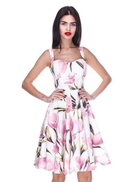 Сукня біла з квітковим принтом Atelier private 3255707