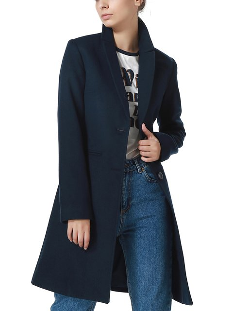 Пальто темно-синее Dewberry 2641406