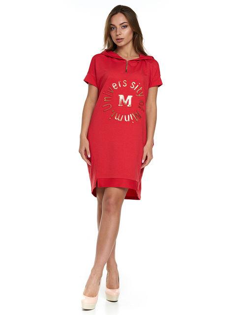 Сукня червона з принтом MOONLIGHT 3299629