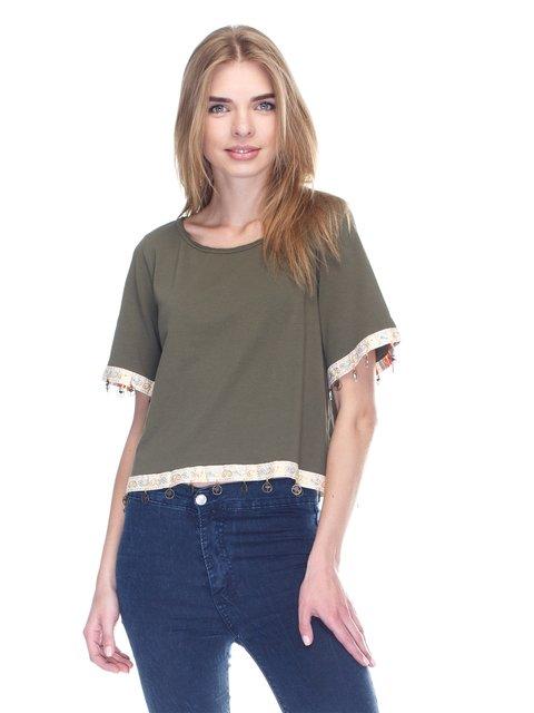 Блуза цвета хаки OLA FASHION 3102310