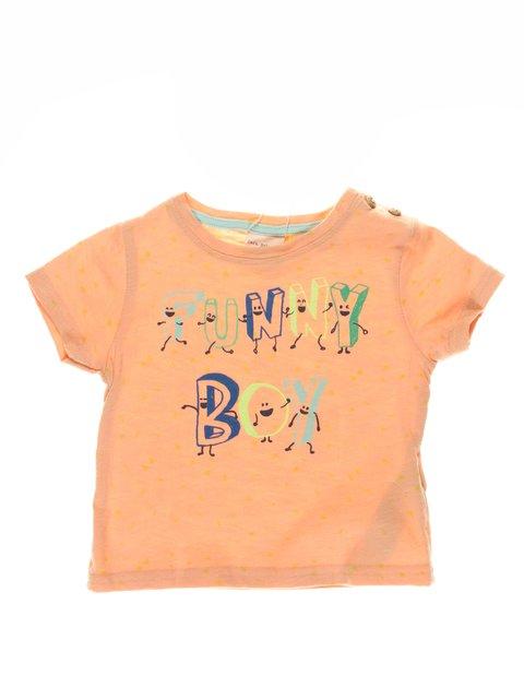 Футболка помаранчева з принтом Zara Kids 3277772