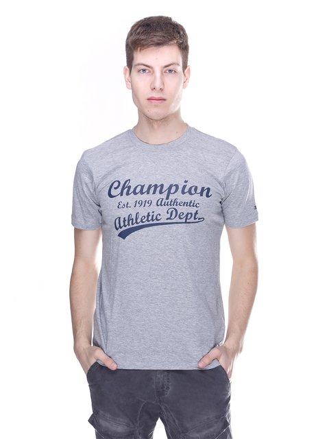 Футболка сіра з принтом Champion 3180205