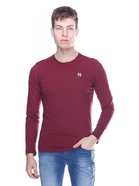 Лонгслив бордовый GURU 3180285