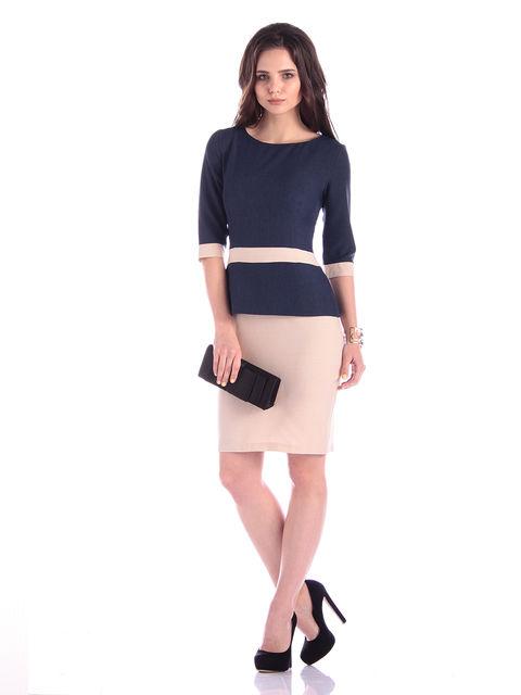 Сукня синьо-бежева Maurini 3302034