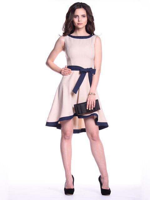 Сукня бежево-синя Maurini 3302035