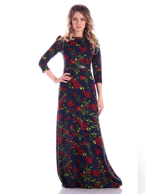 Платье в цветочный принт Victoria Loks 3302075