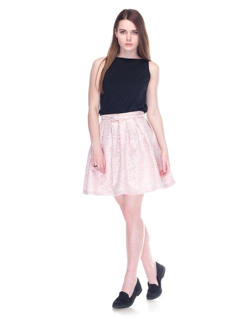 Спідниця рожева з малюнком Yumi 3292925