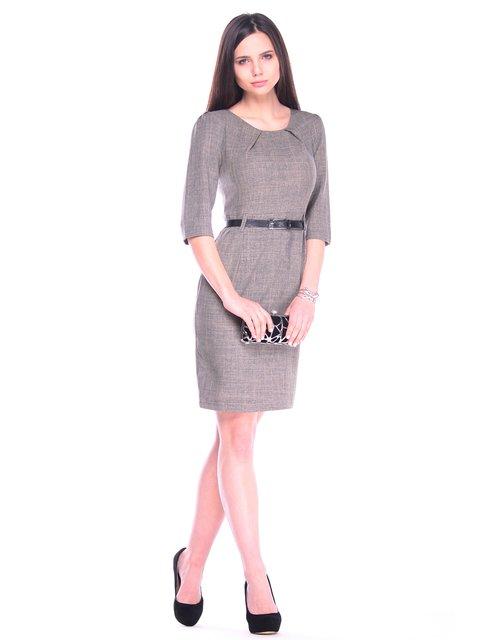 Платье цвета бежевый хаки Laura Bettini 3241207