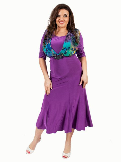 Платье сиреневое Мисс мода 3308054