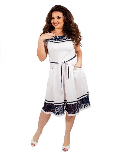 Платье белое Мисс мода 3195502