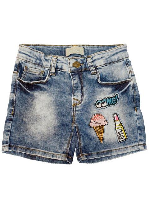 Шорты синие с патчами Kids Couture 3312035