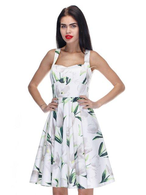 Сукня білого кольору з принтом Atelier private 3295559