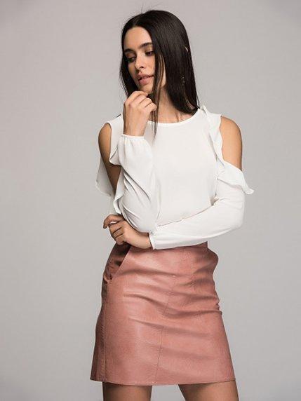 Блуза кольору екрю Cottonmood 3315694