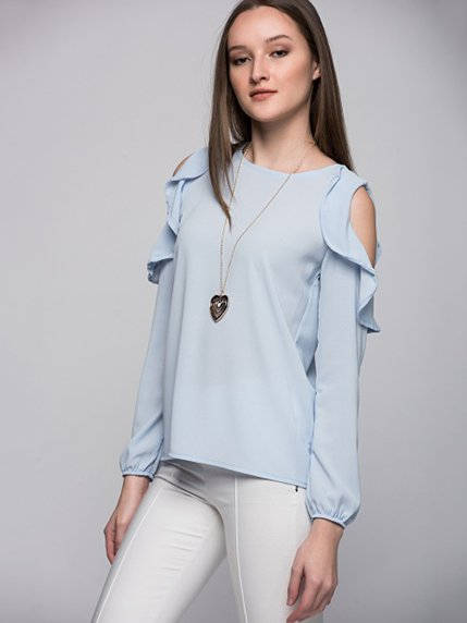 Блуза голубая Cottonmood 3315695