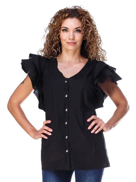 Блуза з льону чорна Marc Vero Maxxi 3315336