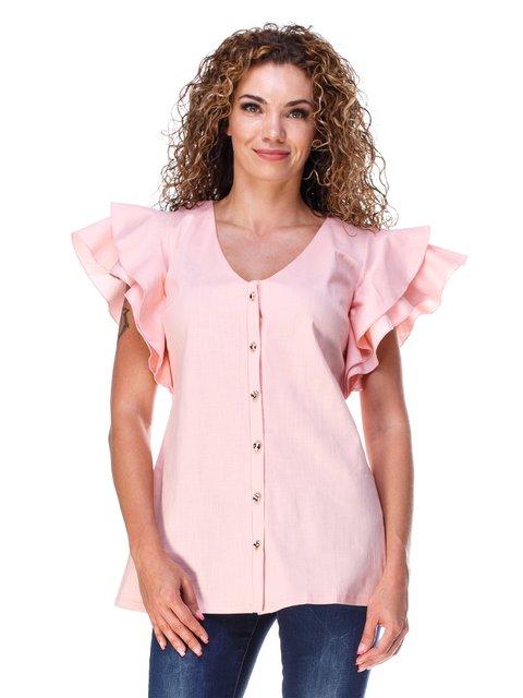 Блуза з льону персикового кольору Marc Vero Maxxi 3315334