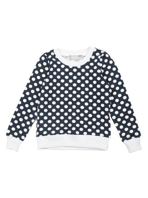 Світшот темно-синій в горох Kids Couture 3244820