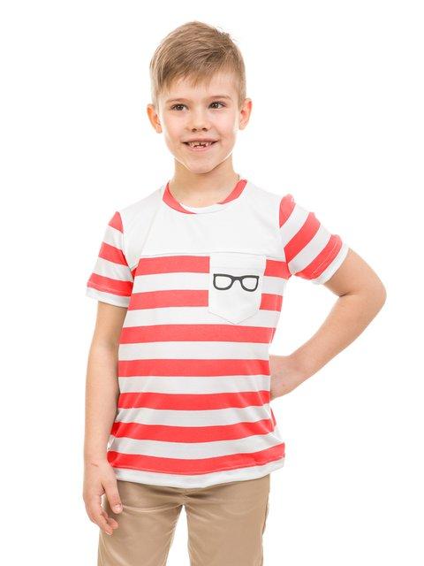 Футболка червона в смужку Kids Couture 3244828