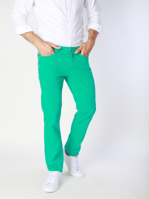 Джинсы зеленые Jaggy 3339224