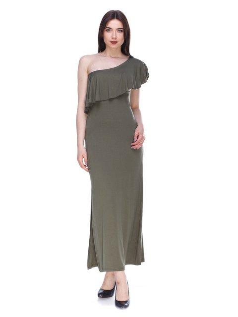 Сукня кольору хакі MODAMORE FASHION 3190647