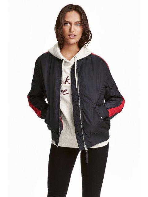 Куртка чорна H&M 3239565