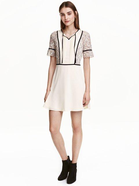 Сукня молочного кольору в принт H&M 3224636