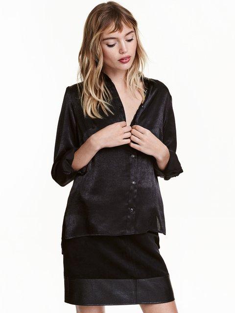 Рубашка черная H&M 3290511