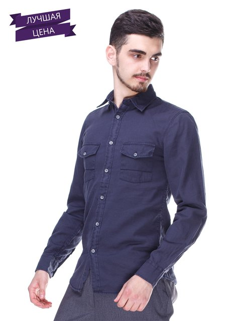 Рубашка темно-синяя Springfield 1899612