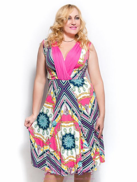 Платье розовое с принтом LibeAmore 3365253