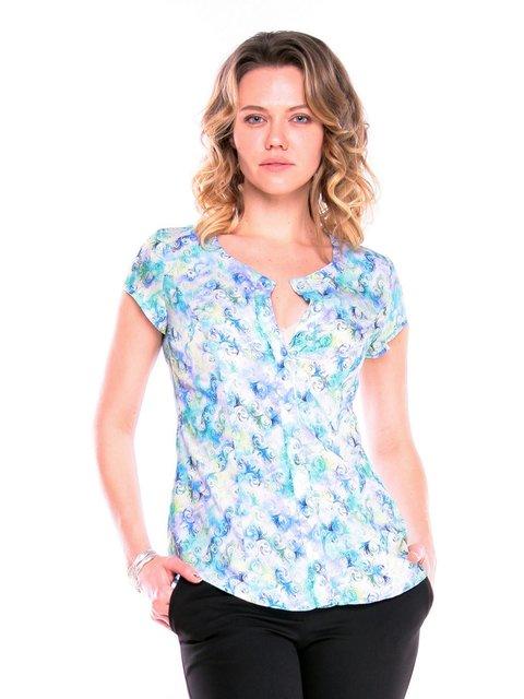 Блуза в принт Victoria Loks 3365213