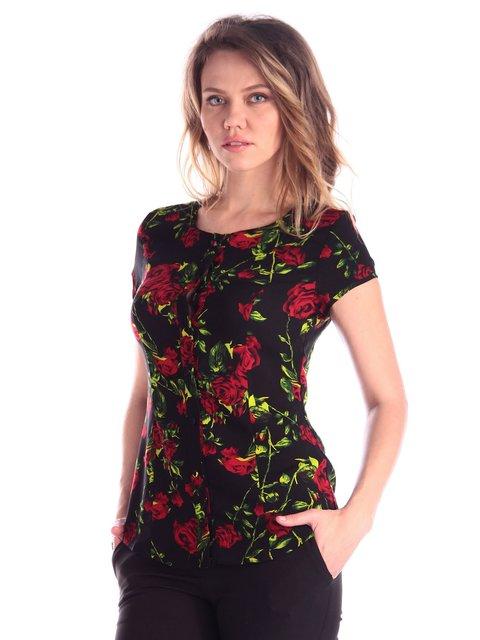 Блуза в квітковий принт Victoria Loks 3365220
