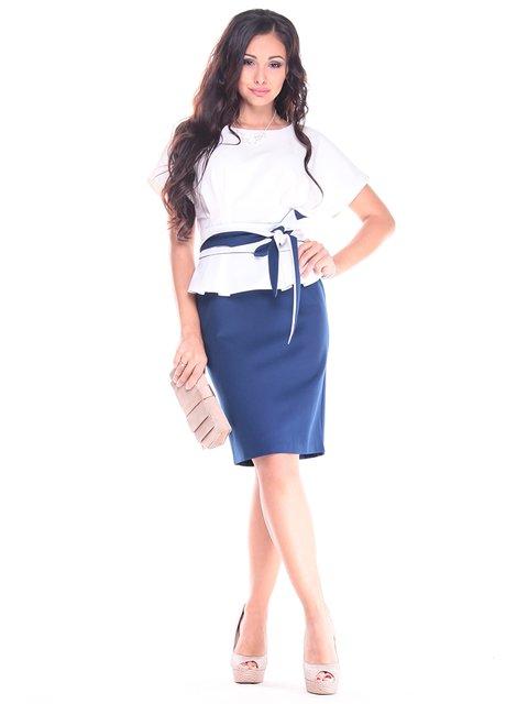Платье молочно-синего цвета Rebecca Tatti 2900713