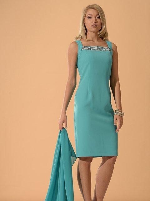 Платье бирюзовое с рисунком Lesya 3379696