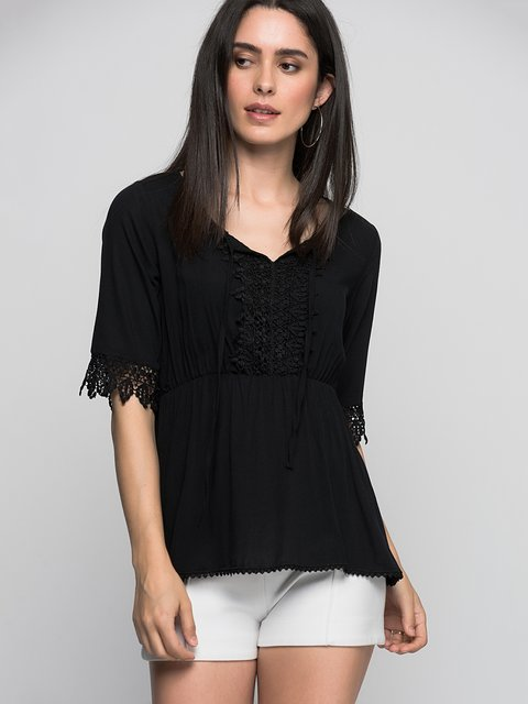 Блуза чорна Cottonmood 3382413